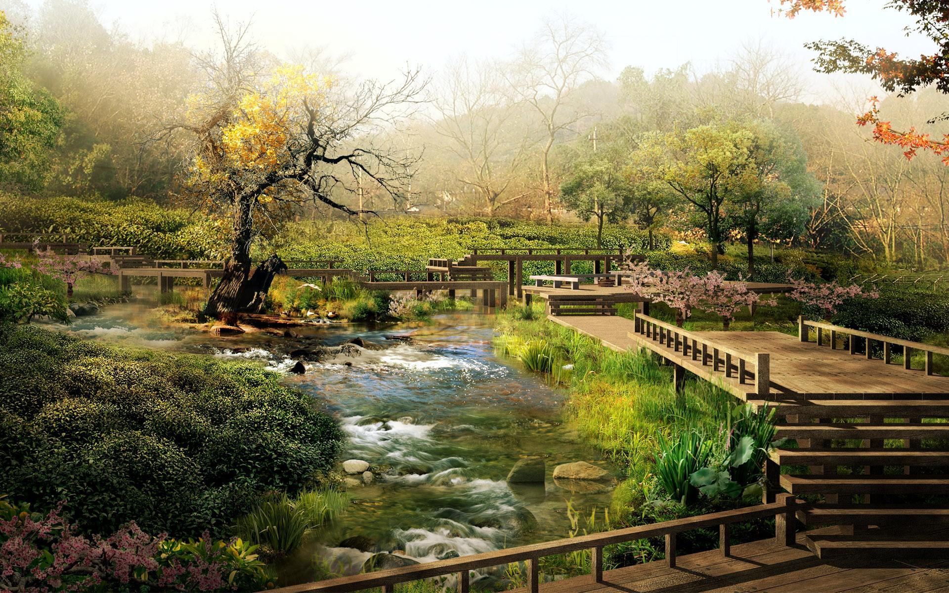 [peaceful landscape]